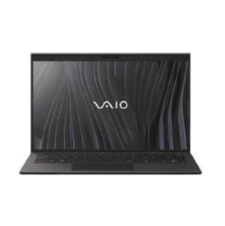 VAIO  Z系列2021 11代酷睿14英寸标压碳纤维高端轻薄商务笔记本电脑(i7-11375H-32G-2T SSD 4K屏)睿丝黑