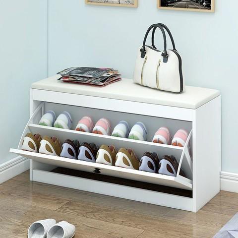 软包换鞋凳翻斗家用鞋柜坐凳储物凳穿鞋凳