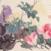 艺术家的礼物 赵之谦《蔷薇花》38x50cm装饰画 纸本设色