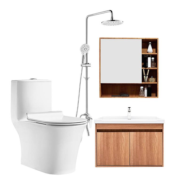 HUIDA 惠达 6218马桶+1322浴室柜组合+5010花洒组合套装 305mm坑距