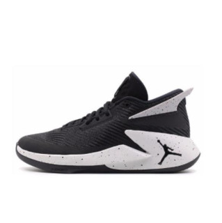 NIKE 耐克 Jordan Fly Lockdown 男子篮球鞋 AO1550-010 金属银/黑 43