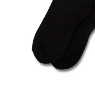 QUARTERSNACKS 男士中筒袜 黑色