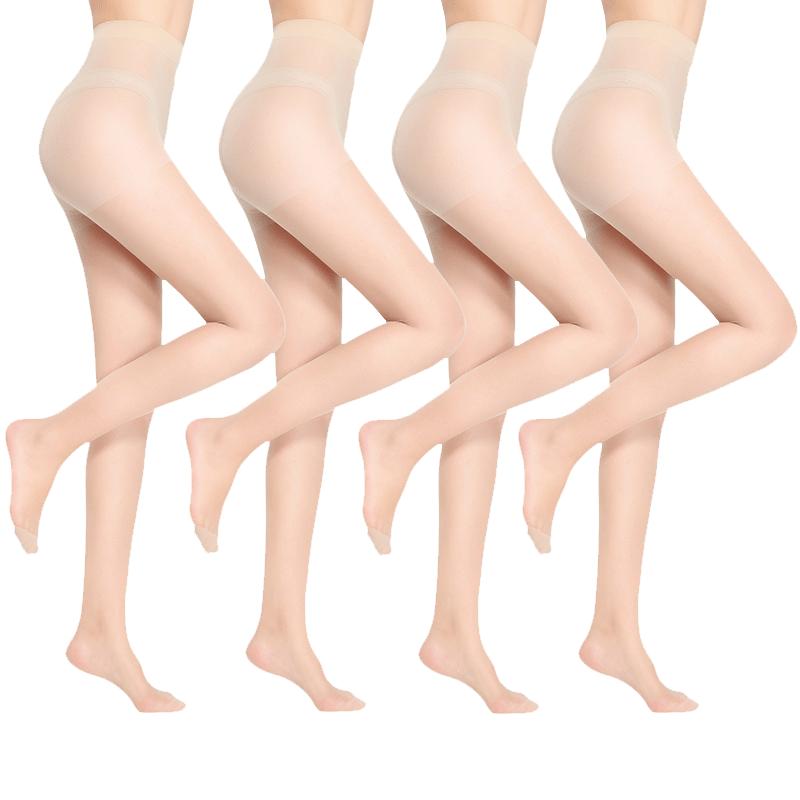 Langsha 浪莎 女士超薄连裤袜 L3543 6双装 肤色
