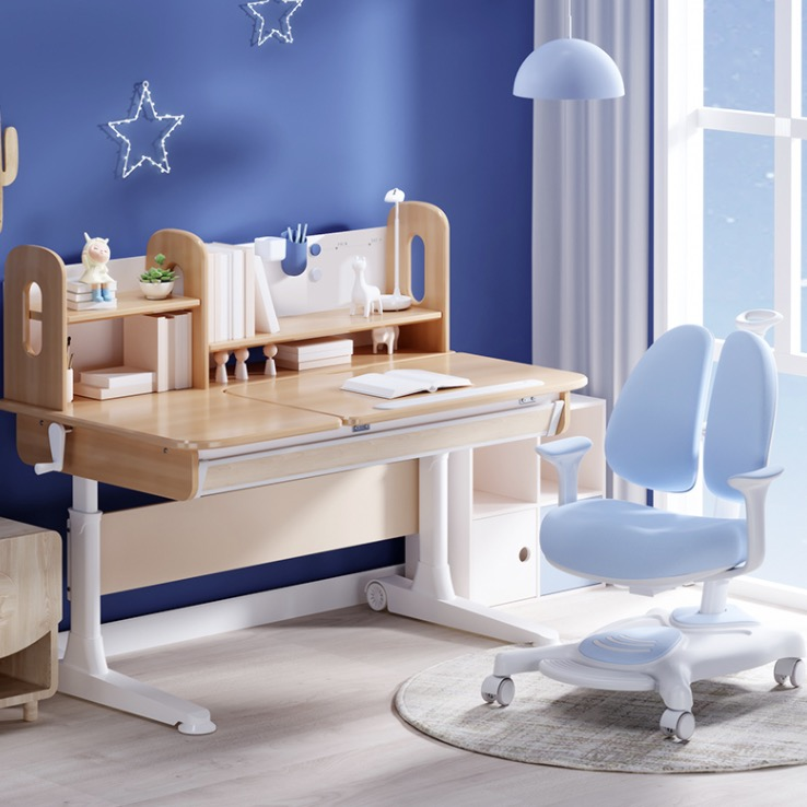 J.ZAO 京东京造 JZ360 儿童桌椅套装 马卡龙蓝