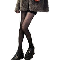 Langsha 浪莎 女士防勾丝连裤袜 V688 2双装(字母款) 黑色