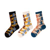 DAPU 大朴 AF0W0200809000 情侣款舒适袜子3双装
