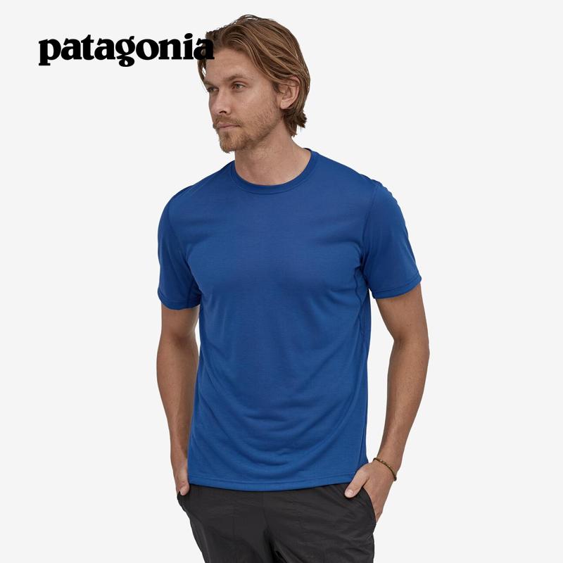 PATAGONIA巴塔哥尼亚Cap Cool男士T恤户外C1速干透气短袖24496 SPRB L
