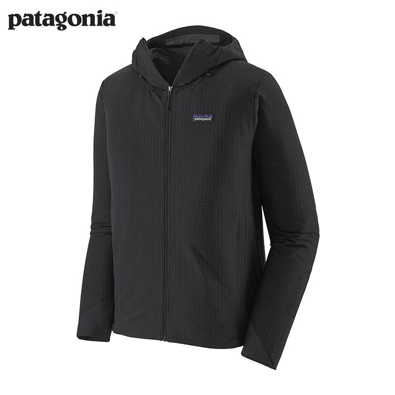 patagonia巴塔哥尼亚 软壳外套男士四季R1保暖防泼水抓绒衣83576 BLK M