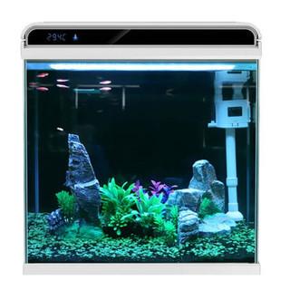 SUNSUN 森森 超白玻璃小鱼缸客厅 小型桌面家用水族箱 生态免换水金鱼缸HE300(300*200*320mm)