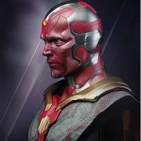玩模总动员、新品预定:Queen Studios 《复仇者联盟》 幻视 1/1 胸像