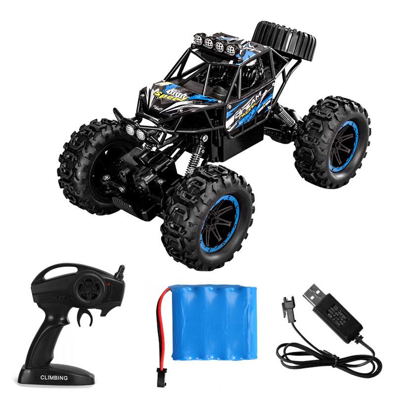 JJR/C 蓝色高速四驱攀爬车1:14 标配1电