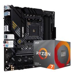 ASUS 华硕 TUF GAMING B450M-PRO S重炮手主板 + AMD 锐龙5 3700X CPU处理器 板U套装 CPU主板套装