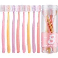 88VIP:朗利洁 黑白配纤巧深洁牙刷 8支装