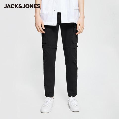 3.30聚直播杰克琼斯outlets春男棉质可拆卸两穿牛仔休闲工装裤子