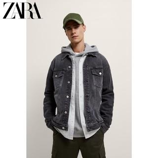 ZARA 新款男装 基本款牛仔夹克外套 04454450802