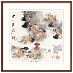 橙舍  陈永锵《畅游》60*60cm