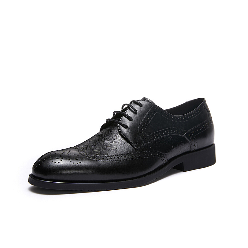 SHERIDAN 喜来登 888502 男士商务休闲皮鞋 黑色 41