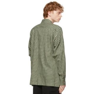 doublet With My Friend系列 男士格纹长袖衬衫 211038M192038 Green M