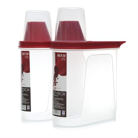 Citylong 禧天龙 塑料保鲜储物罐 1.7L 2个装