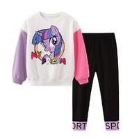 My Little Pony 小马宝莉 春季新款女童韩版时尚套装