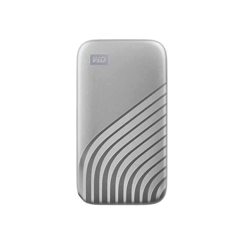 Western Digital 西部数据  My Passport SSD系列 NVME 移动固态硬盘 Type-C 2TB 星河银 时尚版