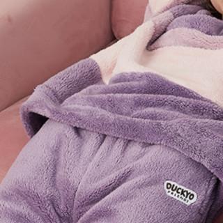 dingguagua 顶瓜瓜 女士羊羔绒家居服套装 270166 野莓紫 160