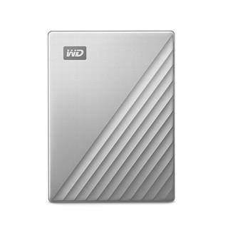 Western Digital 西部数据 My Passport Ultra系列 2.5英寸 Type-C便携移动机械硬盘 1TB 银色 精英款