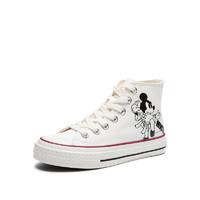 hotwind 热风 迪士尼系列 女士高帮帆布鞋 H14W1501 白色 36