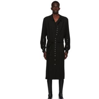 ANN DEMEULEMEESTER God of Wild系列 Pippa 男士长款衬衫 202378M192064 黑色 S