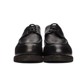 GUIDI 男士皮革德比鞋 211703M225009 黑色 42