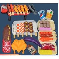 立健 儿童过家家玩具 BBQ烧烤 34件套
