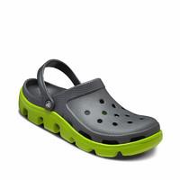 Crocs洞洞鞋拖鞋男鞋休闲鞋卡骆驰运动迪特情侣沙滩鞋凉鞋防水鞋11991 石墨色/翠绿色-0A1 41/42(260mm)