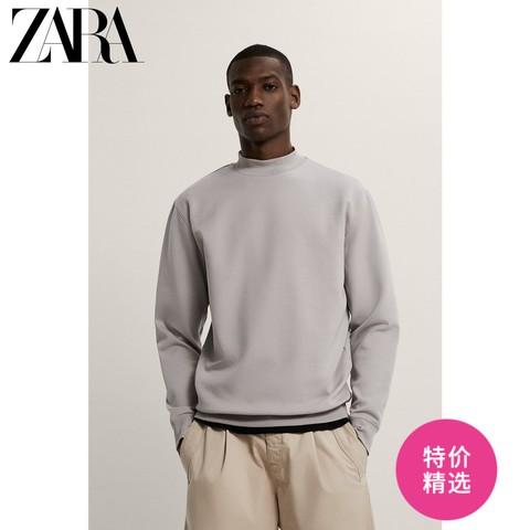 ZARA 新款男装 半高领基本款宽松廓型圆领卫衣 01608401802