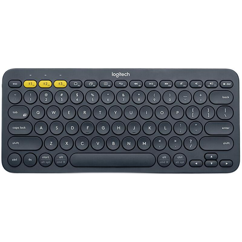 logitech 罗技 Logitech K380 79键 蓝牙薄膜键盘 深灰色