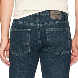Wrangler 威格 男士直筒牛仔裤 复古深色 29Wx30L