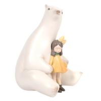 本艺术空间 贾晓鸥 暖熊·夏夜 50×35×35 雕塑 高质宝丽石