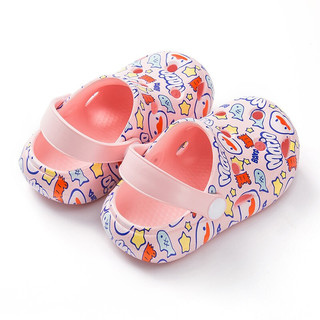 lemonkid 柠檬宝宝 儿童拖鞋 粉色 140mm