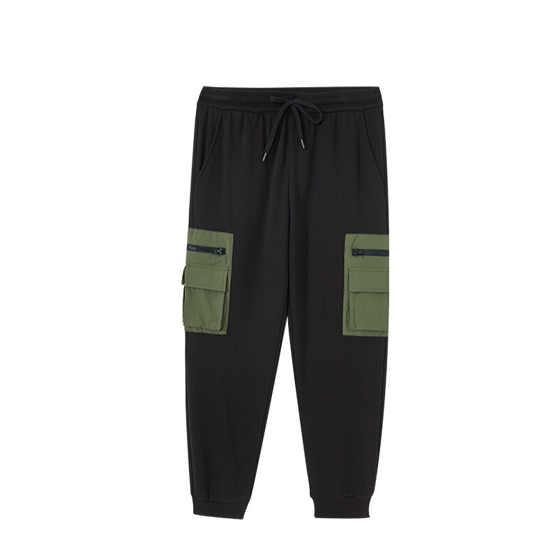 A21 Ener-G系列 男士束脚九分裤 R404136002 黑色 M