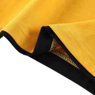 YUZHAOLIN 俞兆林 儿童T恤 悟空联名款 撞色杏黄 140cm