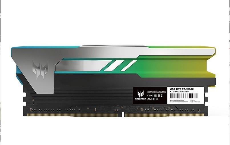PREDATOR 掠夺者 DDR4 3600 台式机内存条 16GB(8G×2)RGB灯条