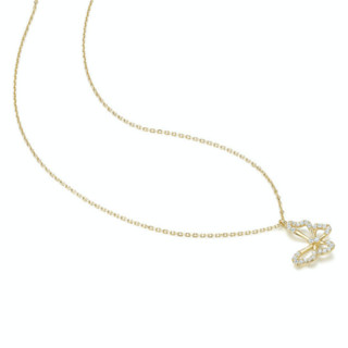 CHOW TAI SENG 周大生 S1PC0012 蝴蝶925银项链 45cm