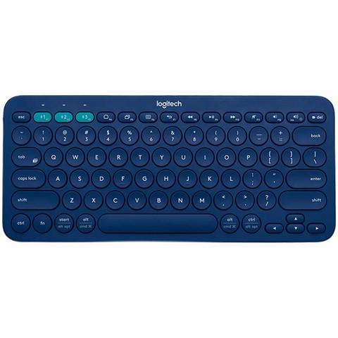 logitech 罗技 K380 79键 蓝牙薄膜键盘 蓝色 无光