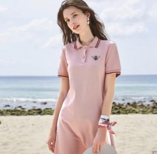 3COLOUR 三彩  W362G1012L2001 女士短袖直筒Polo连衣裙