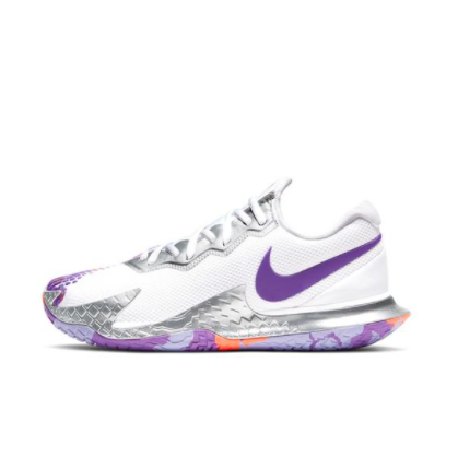 NIKE 耐克 Air Zoom Vapor Cage 4 中性网球鞋 CD0431-103 白色/灰色/紫色 39