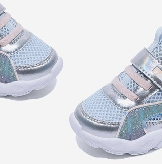Snoffy 斯纳菲 0606 女童休闲运动鞋 银色 22(内长14cm)