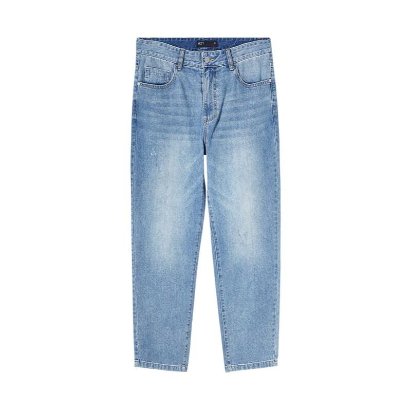 A21 男士直筒牛仔裤 R412126012 浅中蓝 29