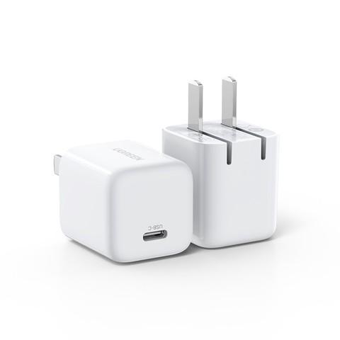 绿联迷你小金刚iPhone12pro充电器pd20w快充头xr快速闪充线适用于苹果11xsmax手机typec插头一套装switch通用