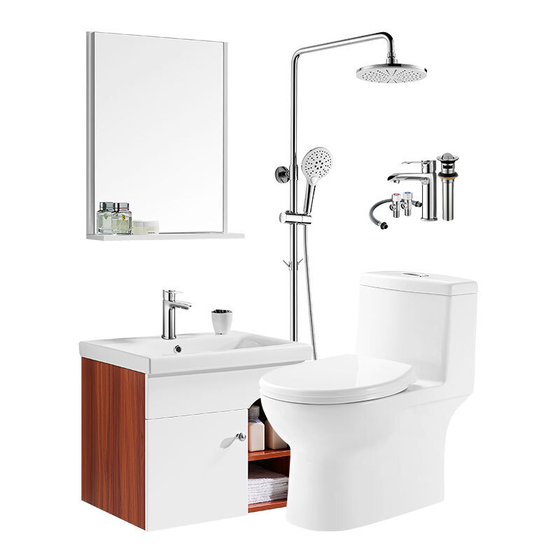 HUIDA 惠达  卫浴套装 HDC6269马桶+511-60浴室柜+5010花洒 400mm坑距