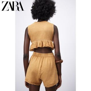 ZARA新款 女装 V领短上衣 05770022305