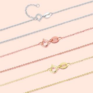 ZLF 周六福 KI050851 O字红18K金项链 42cm 0.8g